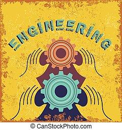 vendange, ingénierie, concept