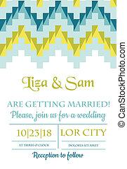 vendange, mariage, -, vecteur, invitation, album, conception