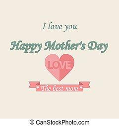 vendange, mothers's, fond, typographical, jour, heureux