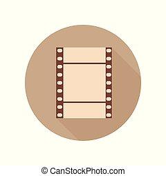 vendange, photo, theme., filmstrip, retro, film, icon., pellicule