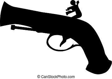 vendange, pistolet
