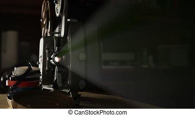 vendange, projecteur, pellicule, 8mm
