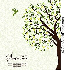 vendange, résumé, invitation, élégant, conception, orné, floral, carte
