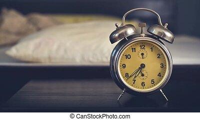 vendange, réveille-matin, chambre à coucher
