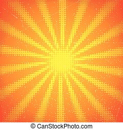 vendange, rayons soleil, carte, halftone