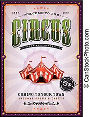 vendange, rayons soleil, cirque, affiche