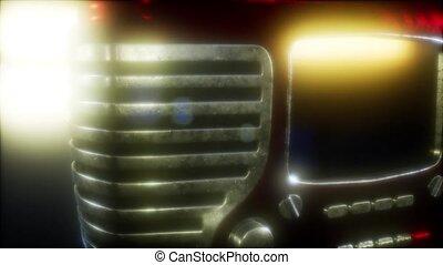 vendange, retro, façonné, radio, vieux