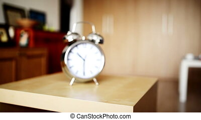 vendange, reveil, dénombrement, métal, horloge