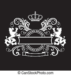 vendange, royal, bouclier