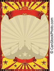 vendange, sommet, cirque, affiche, grand