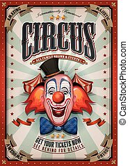 vendange, sommet, cirque, grand, affiche