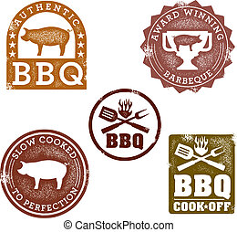 vendange, style, timbres, barbecue