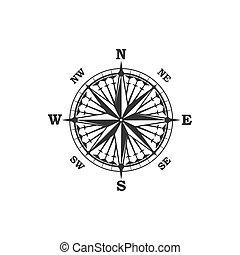 vendange, symbole, compas, signe