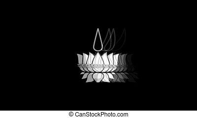 vendange, symbolisme, icône, signal, ayyavazhi, symbole religieux, animation., mauvais, twitched