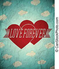 vendange, toujours, amour, carte