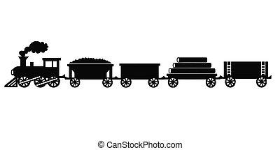 vendange, train, jouet