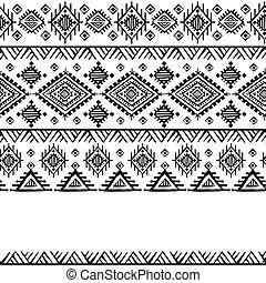 vendange, tribal, fond, ethnique