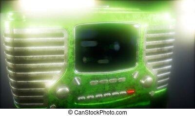 vendange, vieux, radio, retro, façonné