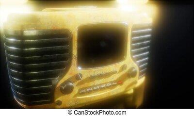 vendange, vieux, retro, radio, façonné