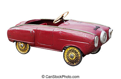 vendange, voiture jouet