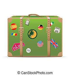 vendange, voyage, valise