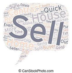 vendre, concept, texte, wordcloud, fond, rapide, pointes