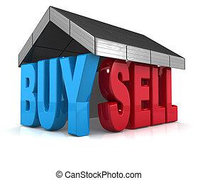 vendre, propriété, concept, achat