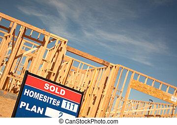 vendu, site, signe, construction, lot, maison, nouveau