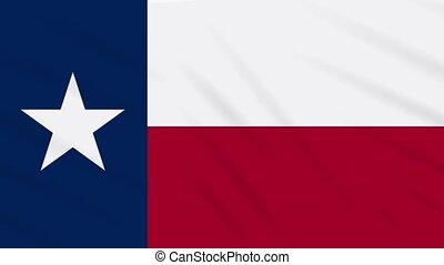 vent, drapeau, flottements, fond, boucle, texas