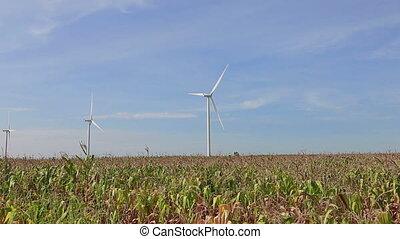 vent, propre, renouvelable, puissance, énergie
