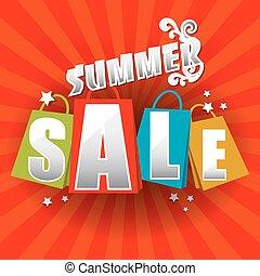 vente, été, affiche