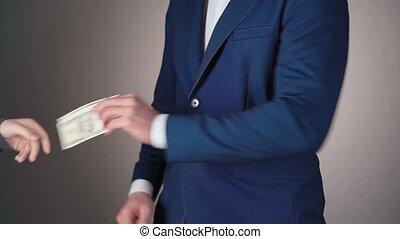 vente, document, vidéo, homme affaires