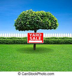 vente jardin, signe