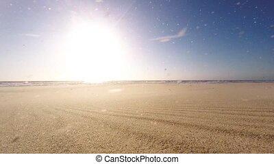 venteux, plage, après-midi