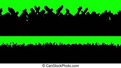 ventilateurs, football, vert, but, screen.