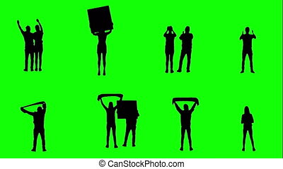 ventilateurs, football, vert, screen.