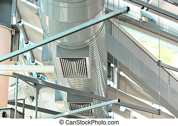 ventilation, canaux transmission, condition, air