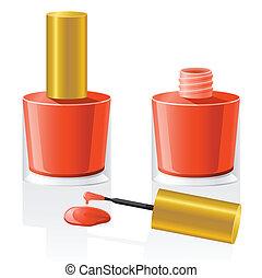 vernis à ongles, vecteur, illustration