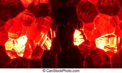 verre, arrière-plan., rouges, résumé, texture, cristal