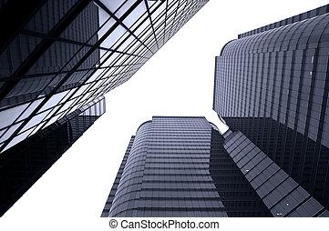 verre, bâtiments, commercial