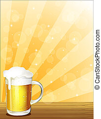 verre, bière, entiers, froid