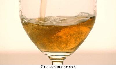verre, bière, -, hd, remplir