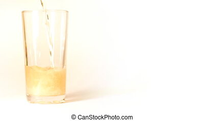 verre, bière, versé