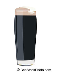 verre, blanc, isolé, fond, cocacola