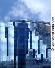 verre bleu, bâtiment