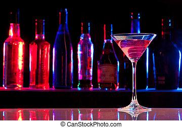 verre, boisson, barre, cocktail