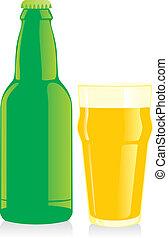 verre, bouteille bière