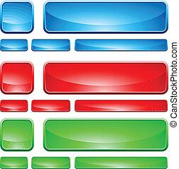 verre, bouton, formes