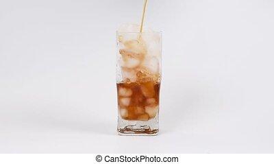 verre, café, ice., verser