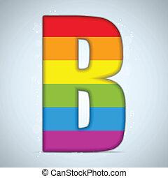 verre, drapeau, brillant, gay, alphabet